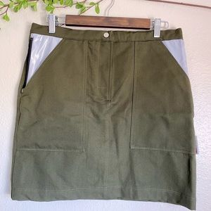 Versace Jeans Couture Green Mini Skirt